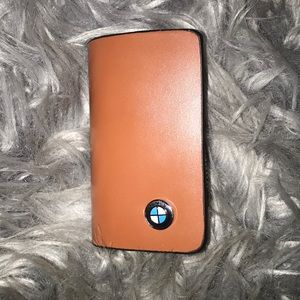 🎉HP🎉BMW Genuine Brown Leather Bag For Car Keys✨